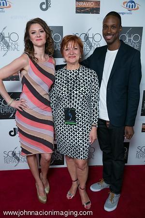 Actress Marisa Vitali, Frances McGarry and Brandon Brathwaite attend SOHO International Film Festival 2015 at Village East Cinema on May 14, 2015 in New York City.