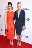 Actresses Carla Gugino and Malin Ackerman attend the 'Wolves' premiere during 2016 Tribeca Film Festival at SVA Theatre on April 15, 2016 in New York City.
