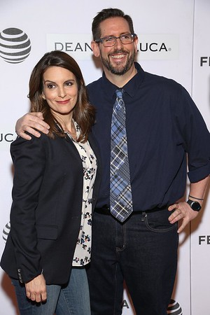 Tina Fey and Damian Holbrook attend Tribeca Talks Storytellers: Tina Fey With Damian Holbrook at BMCC John Zuccotti Theater on April 19, 2016 in New York City.<br /> Photo by: John Nacion Imaging