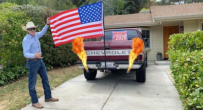 AAA SANDER FLAG TRUCK DRIVEWAY FLAMES