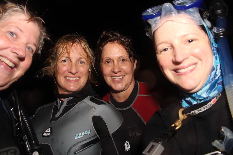 Night Dive: Janna, Kristi, Susan and Dawn