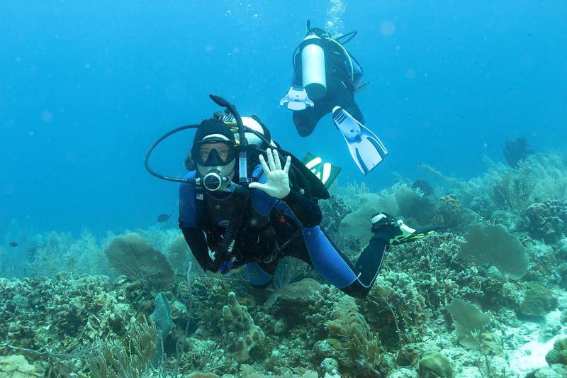 Tiffany underwater