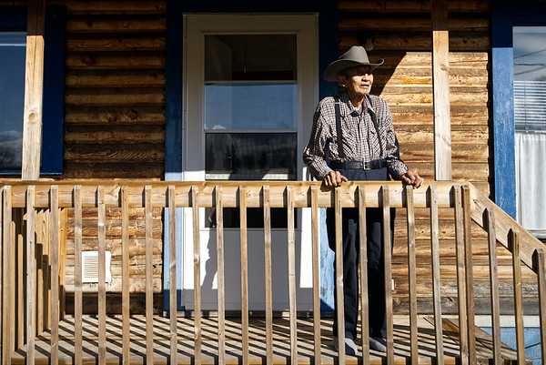 Elder Willy Whitehead at his home.