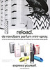 RELOAD refillable mini spray 2015 Belgium (text in Dutch) 'De navulbar parfum mini-spray'