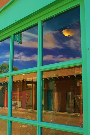 Old Mesilla, NM, reflection on the Plaza