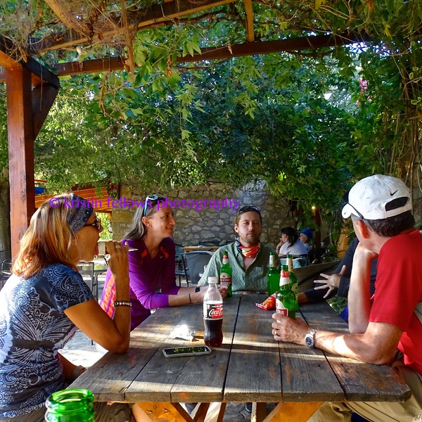 post kayaking beers, ice cream & dry clothes at the alternative