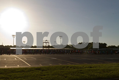 Photo by Shannon Wilson / Tyler Morning Telegraph Robert E. Lee band students gather for practice at 7:30 on Tuesday morning.  This is the second of many days practicing together.