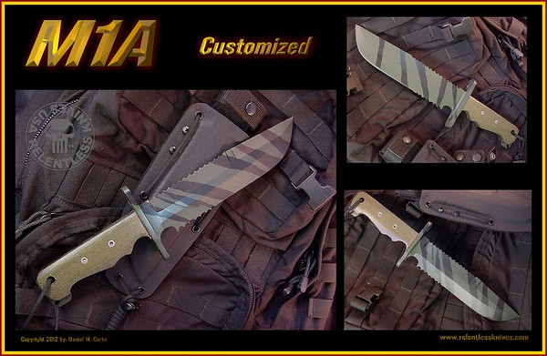 Customized M1A Hot Enhanced, Camo Dura coat finish<br /> Special Forces ordered