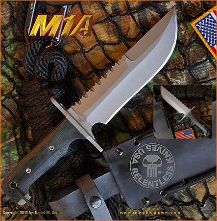 "M1A Satin Finish,7.5"" blade"