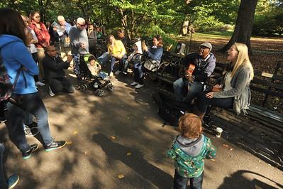 REMEMBERING  JOHN  LENNON  2014    -     Strawberry  Fields,  Central  Park   NYC