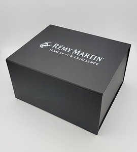 127- Black Box with White Logo inside and out