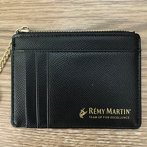 1100- Black Wallet Zipper Keychain