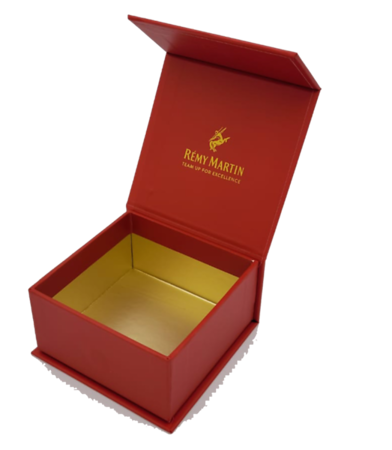 500- Red Square Box w/ Gold inside