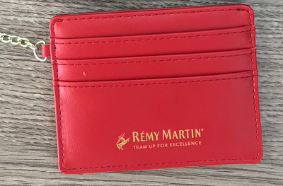1100- Red Wallet Keychain no Zipper