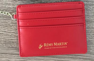 1100- Red Wallet Keychain no Zipper