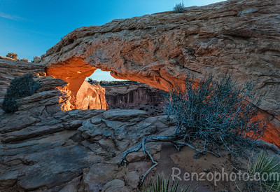 Mesa Arch, Canyonlands National Park, side view