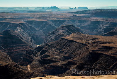 Muley Point, looking toward Monument Valley