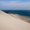 Dune de sable blanc, côte sud • White dunes, southern coast