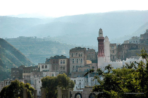 Jibla, près d'Ibb et du Djebel Ataker • Jibla, near Ibb and Jebal Ataker