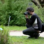 Jose Arnaud dans les allées du Jardin Botanique de Strasbourg.