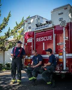 Fire Crew Stands By