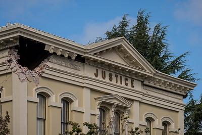 Court House Facade Damage