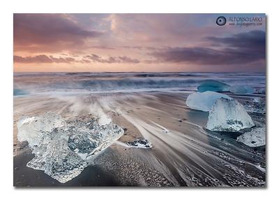 Jökulsárlón  Ice Beach.