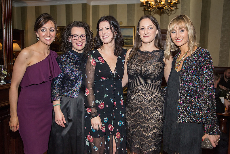 Photographed at the Respect Charity ball on Saturday night were Caroline Clifford, Eadaoin Curtin, Catherine Doyle, Thea Eccles and Denise Moppett.