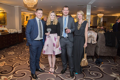 Photographed at Saturday's Respect charity ball in killiney fitzpatrick hotel were Declan Reilly, Jamie-Lee Foran, Stephen Doyle and Chantelle NíChroinin