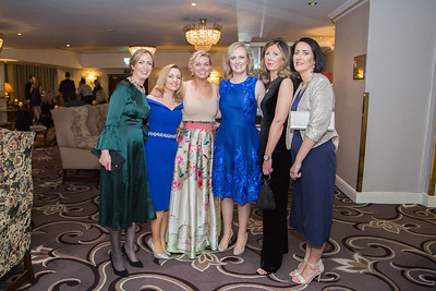 Photographed at Saturday's Respect charity ball in killiney fitzpatrick hotel were Susan Carney, Claire Bourke, Nessa McEniff, Barbara McCarthy, Anne-Marie Dowd and Louise Davis
