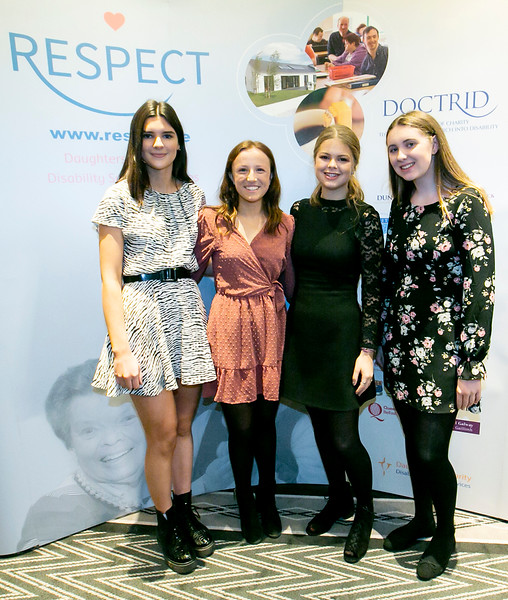 31/11/2019. NO REPRO FEE - Respect Christmas Lunch. Pictured (LtoR) Sheila McCarthy, Maria Coffey , Katie O'Reilly and Eve Hackett at the Respect Christmas Lunch in the Shelbourne Hotel, Dublin. Photo: Sam Boal/PhotocallIreland