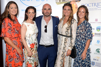 09/06/18. Barry Traynor with Susie O'Connor, Niamh O'Reilly, Hazel McGuinness and Kim Hutchinson at the Summer Respect lunch at the Intercontinental hotel in Dublin. Pic: Justin Farrelly