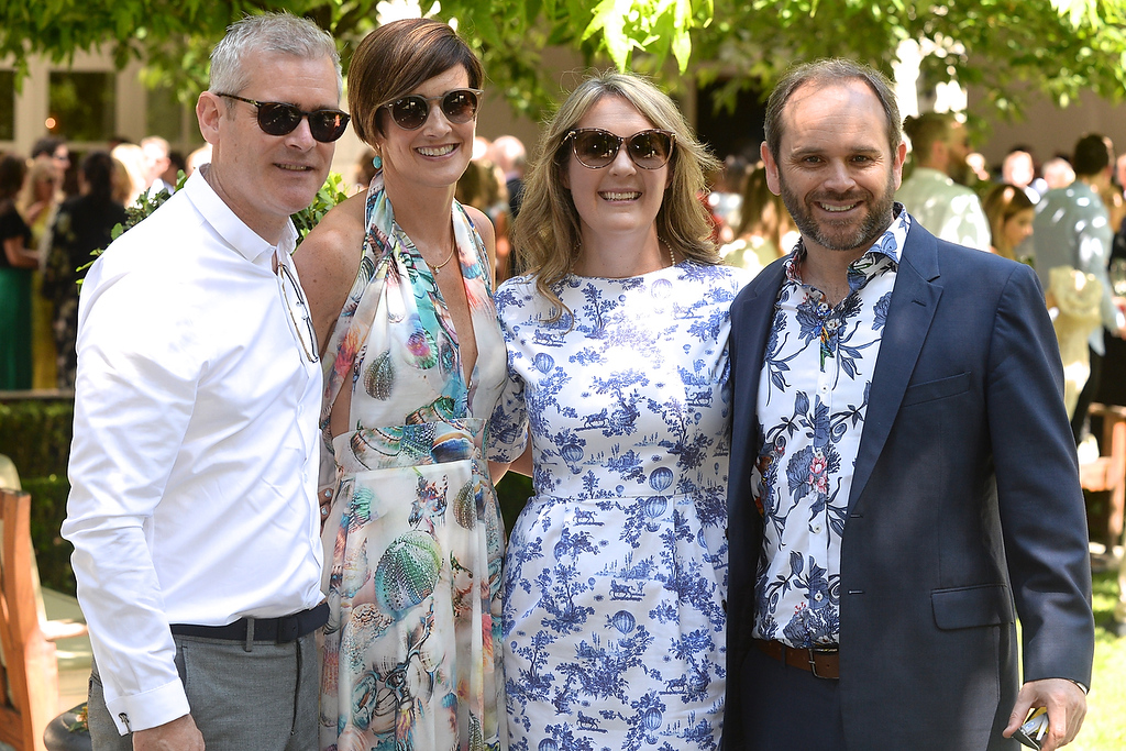 09/06/18. Stephen and Conor Malinan with Aideen Grey and Alex Monaghan at the Summer Respect lunch at the Intercontinental hotel in Dublin. Pic: Justin Farrelly
