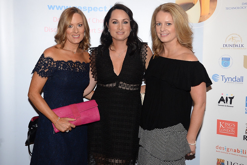 09/06/18. Joanne O'Duffy, Claire Homan and Niamh O'Sullivan at the Summer Respect lunch at the Intercontinental hotel in Dublin. Pic: Justin Farrelly