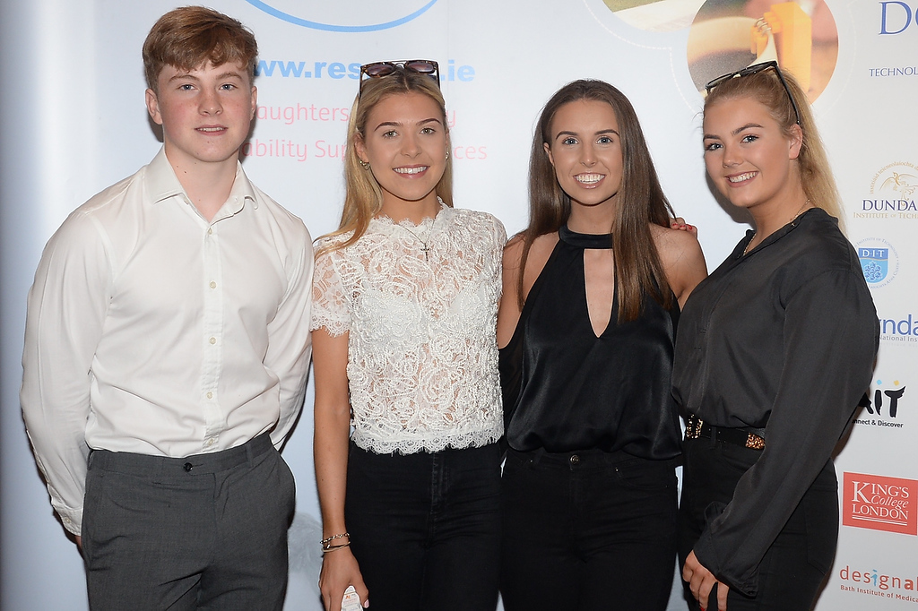 09/06/18.  Peter O'Farrell, Alex Sheeran, Aoife Homan and Kate Brady at the Summer Respect lunch at the Intercontinental hotel in Dublin. Pic: Justin Farrelly