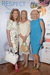 09/06/18. Jackie O'Brien, Carmel Curran and Ruth O'Brien at the Summer Respect lunch at the Intercontinental hotel in Dublin. Pic: Justin Farrelly