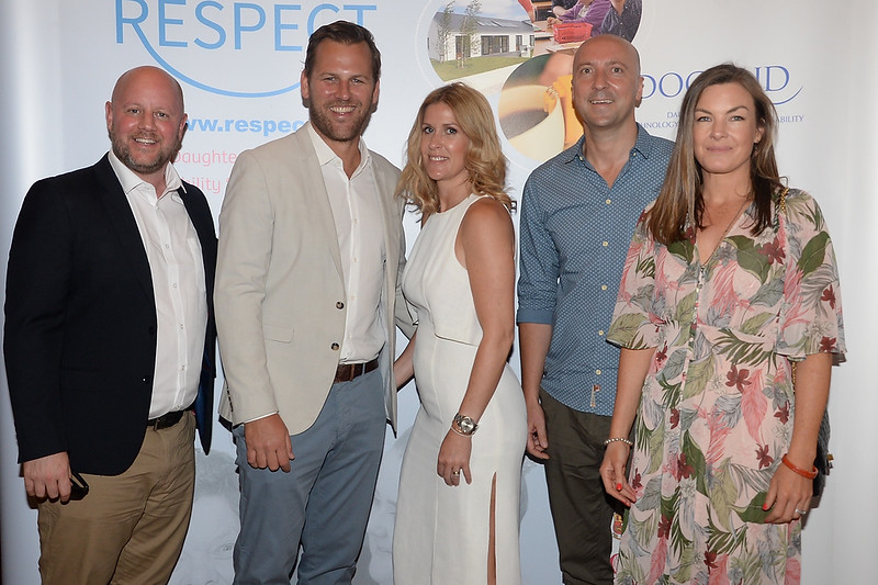 09/06/18.  Gavin and Laura Barry, Cian and Jenny Crowley and Ian Keegan at the Summer Respect lunch at the Intercontinental hotel in Dublin. Pic: Justin Farrelly