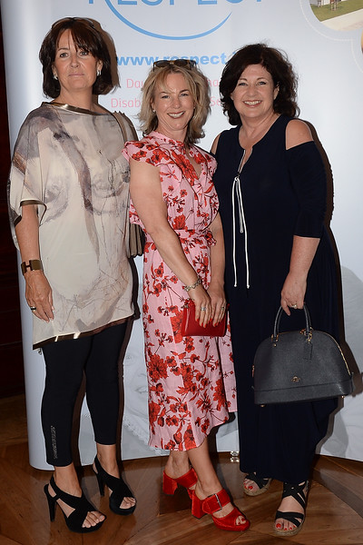 09/06/18. Sile Dennis, Ciara Banks and Oonagh Foley at the Summer Respect lunch at the Intercontinental hotel in Dublin. Pic: Justin Farrelly