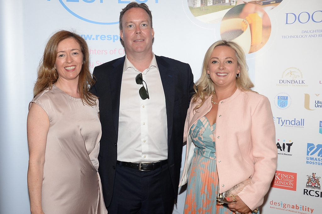09/06/18. Paddy and Gail Farrell with Edel Rooney at the Summer Respect lunch at the Intercontinental hotel in Dublin. Pic: Justin Farrelly