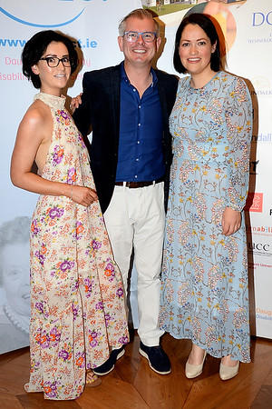 Garrett and Erica Gunnigle with Caroline Leahy at the Respect Summer Lunch at the Intercontinental Hotel in Dublin. The annual event raises much needed funds for the charity who work to improve the lives of those with intellectual disabilities. Photo : Justin Farrelly.