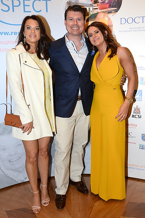 JP and Catriona O'Neill with Roisin Lucey at the Respect Summer Lunch at the Intercontinental Hotel in Dublin. The annual event raises much needed funds for the charity who work to improve the lives of those with intellectual disabilities. Photo : Justin Farrelly.