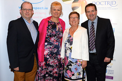 John and Mary Pender with Roy and Catherine Linden at the Respect Summer Lunch at the Intercontinental Hotel in Dublin. The annual event raises much needed funds for the charity who work to improve the lives of those with intellectual disabilities. Photo : Justin Farrelly.
