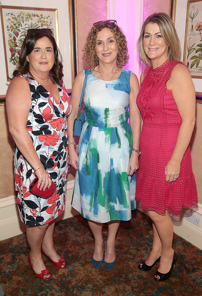 Marina Rapley,Fiona Kavanagh and Michelle O Connor pictured at the  Respect Summer Lunch in the Intercontinental  Hotel in Ballsbridge,Dublin Picture Brian McEvoy No repro fee