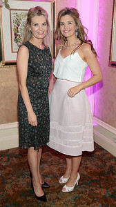 Caroline Dunne and Nicola Conroy pictured at the  Respect Summer Lunch in the Intercontinental  Hotel in Ballsbridge,Dublin Picture Brian McEvoy No repro fee