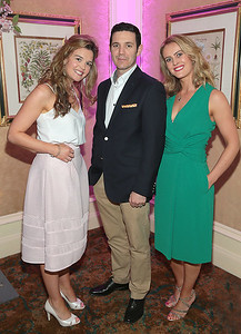 Nicola Conroy,David Hyland and Sarah Hyland pictured at the  Respect Summer Lunch in the Intercontinental  Hotel in Ballsbridge,Dublin Picture Brian McEvoy No repro fee