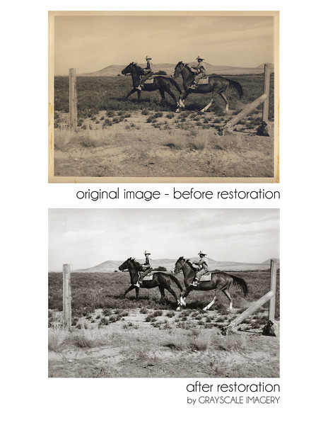 8x12 photo restoration - corrected look of faded and aging paper. also removed minor spots.