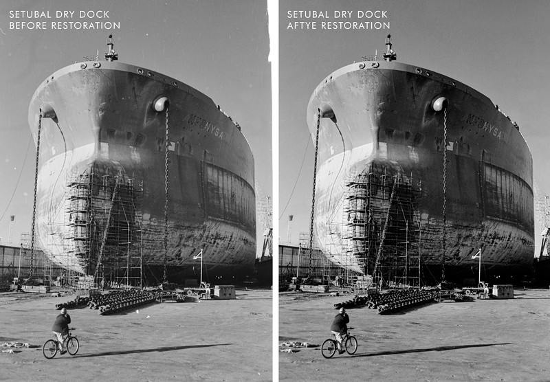 Dry Dock Ship before and after restoration