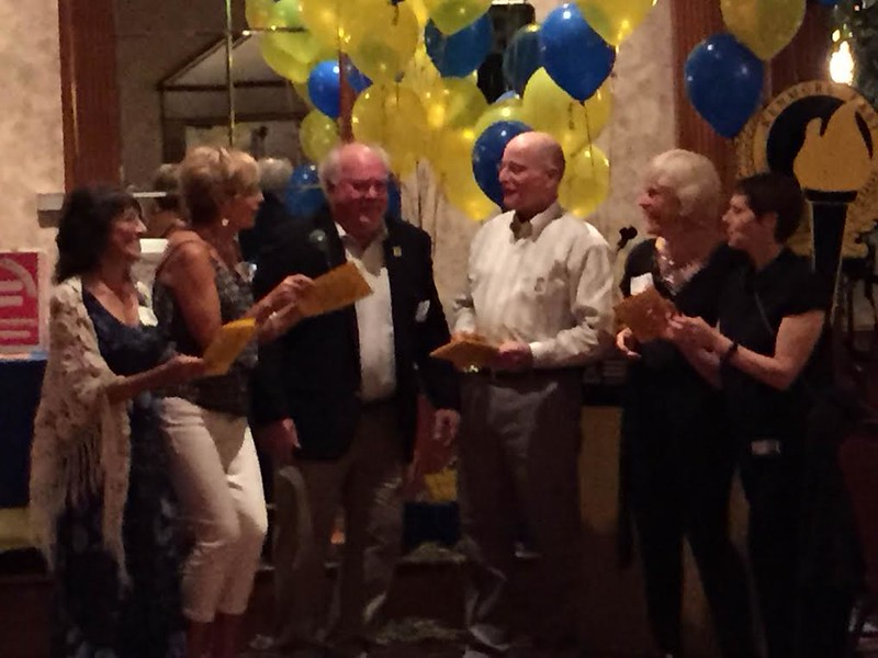 Singing the Alma Mater…Diane Lansing '69, Susan Spang Massey '69, Jim Dunnigan '69, Tom Wolff '69, Holly Hutt Kelly '70, Terry DeBruin '70