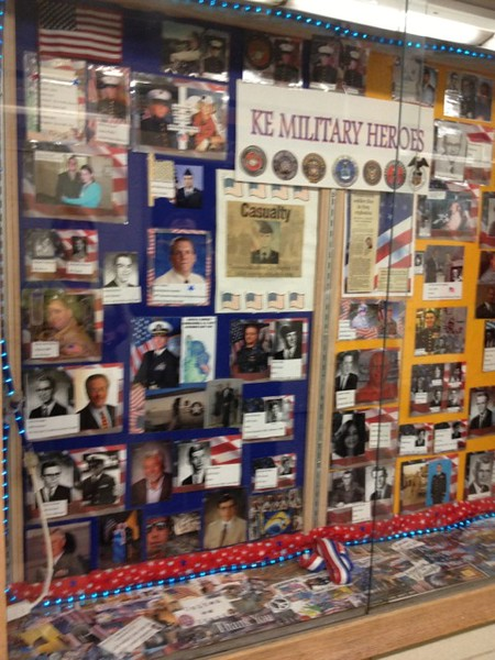Another view of the Military Heroes Case