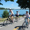 Bikers along the Niagara River